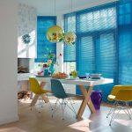 Fargede persienner kan sette et fint preg på et rom