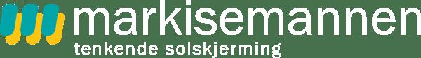 Markisemannen logo i hvit